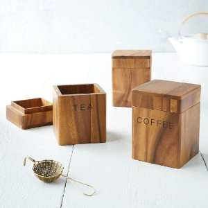 Acacia Wood Canisters | west elm