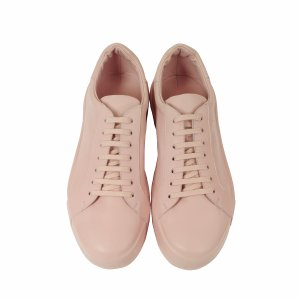 Jil Sander Light Pink Leather Sneaker 36 (6 US | 3 UK | 36 EU) at FORZIERI