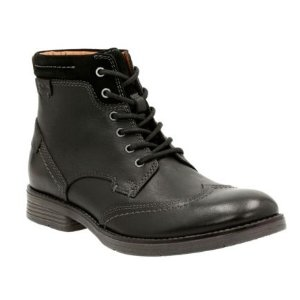 Devington Hi Black Smooth Leather