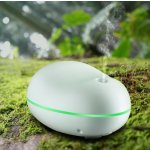 Habor Portable Ultra Mini USB Aroma Diffuser Humidifier with Seven Auto Color-changing Light, White