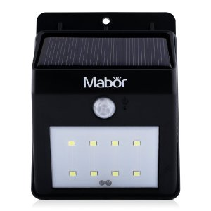 Mabor Solar Lights 8 LED Waterproof Motion Sensor Wall Light