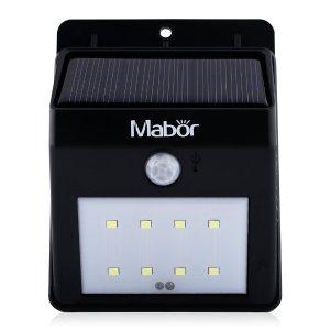 Mabor Solar Lights 8 LED Waterproof Motion Sensor Wall Light
