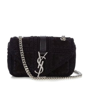 Monogram baby suede cross-body bag | Saint Laurent