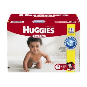 Huggies Snug & Dry Diapers, Size 3, 222 Count (One Month Supply): Health & Personal Care