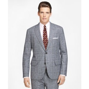 Men's Own Make Grey Plaid Suit | Brooks Brothers