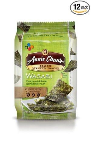 $8.22(原价$17.85)Annie Chun's 咸味烤海苔芥末口味 12包装