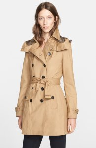 Burberry Brit 'Reymoore' Trench Coat with Detachable Hood & Liner