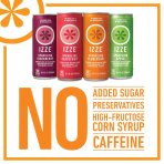 $12.4 IZZE Sparkling Juice, 4 Flavor Variety Pack, 8.4 Ounce (Pack of 24)