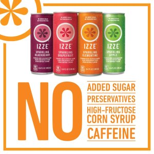 $15.67 IZZE Sparkling Juice, 4 Flavor Variety Pack, 8.4 Ounce (Pack of 24)
