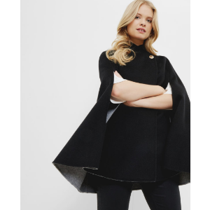 Reversible wrap over cape - Black | Jackets & Coats | Ted Baker