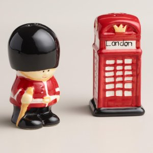 Guard and Phone Booth Salt and Pepper Shaker Set | World Market