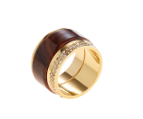 Wood Cigar Ring by Vita Fede at Gilt