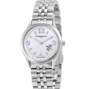 Raymond Weil Freelancer Mother of Pearl Ladies Watch 5670-ST-05907