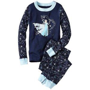 Kids Disney Frozen Long John Pajamas In Organic Cotton   Sale Girls Sleepwear