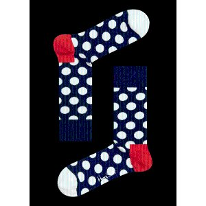 Blue Socks with White and Red Big Dots. Buy Unique Socks Online at Happy Socks.