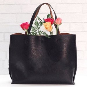 $24 Street Level Faux Leather Pocket Tote @ Nordstrom