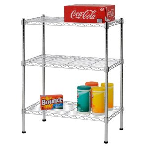 Sandusky Heavy Duty Steel Adjustable Wire Shelving, 3 Shelves
