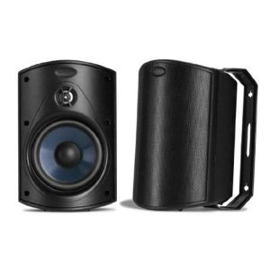 Polk Audio Atrium 4 All-Weather Outdoor Loudspeaker,  Pair, Black