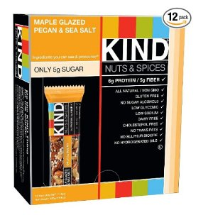 $8.98 KIND Bars, Maple Glazed Pecan & Sea Salt, Gluten Free, 1.4 Ounce Bars, 12 Count