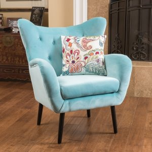 Alyssa Velvet Arm Mid-century Style Chair by Christopher Knight Home - 17824152 - Overstock.com Shopping - Great Deals on Christopher Knight Home Living Room Chairs