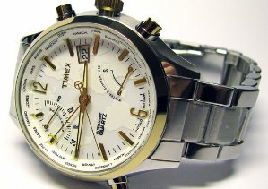 Timex Men's T2N945DH Intelligent Quartz World Time Watch