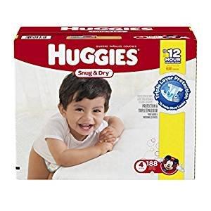 史低!Huggies Snug and Dry 纸尿裤 4号 188片