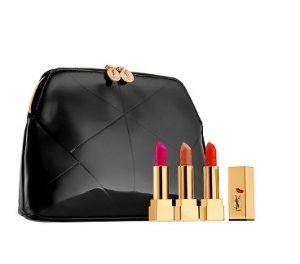 $74(val.$111) Yves Saint Laurent Rouge Pur Couture Kiss & Love Collector's Trio
