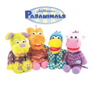 Set of 4 Jim Hensons Pajanimals Characters Plush Toy Dolls by TOMY - Large 15