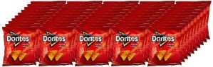Doritos Nacho Cheese Flavored Tortilla Chips, 50 Count