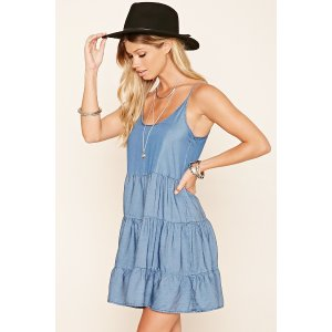 Cutout Back Smock Dress | Forever 21 - 2000215787