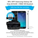 68% off Samsung Galaxy S6 + free VR Headset (pre-owned)