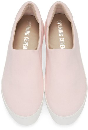 $195 Opening Ceremony Exclusive Pink Platform Slip-On Sneakers