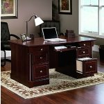 Sauder Palladia Executive Desk, Cherry