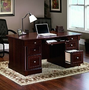 Lowest price! $360.68( reg $681) Sauder Palladia Executive Desk, Cherry