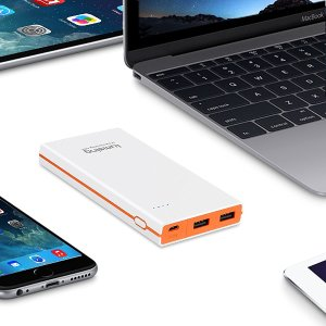Lumsing Ultrathin Portable 2-Port USB Charger 8000mAh Premium External Battery Pack & Power Bank