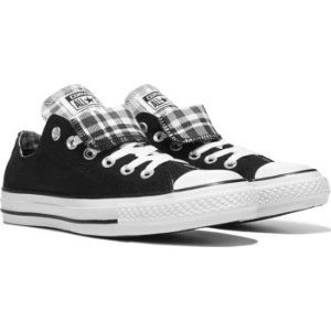 Converse Chuck Taylor All Star Double Tongue Low Top Sneaker Black/White