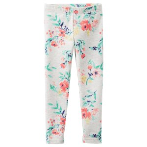 Toddler Girl Floral Print Leggings | Carters.com