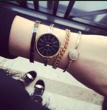 $75.88 Anne Klein Women's AK/1470 Bangle Watch and Bracelet Set