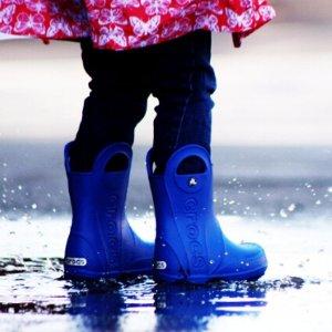 Crocs Kids' Handle It Rain Boot, Sea Blue