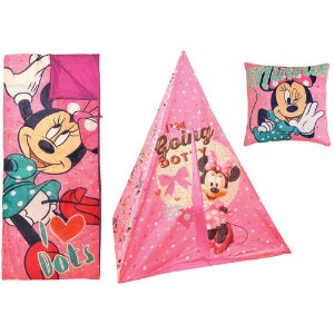 $26.99Disney Minnie Mouse Teepee Play Tent and Slumber Bag with Bonus Pillow