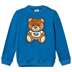 Moschino Blue Bear Applique Sweatshirt | AlexandAlexa