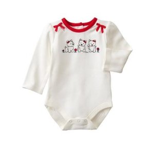 Baby White Westie Bodysuit by Gymboree