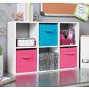 ClosetMaid 1582 Cubeicals Mini 6-Cube Organizer, Espresso and White