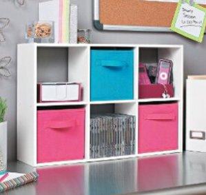 ClosetMaid 1582 Cubeicals Mini 6-Cube Organizer, White