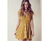 For Love and Lemons Sienna Mini Dress Golden Rod - 6pm.com