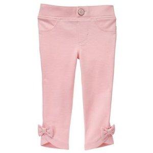 Toddler Girls Petal Pink Bow Pants by Gymboree