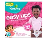 Amazon.com: Pampers Girls Easy Ups Training Underwear, 4T-5T (Size 6), 60 Count: Health & Personal Care
