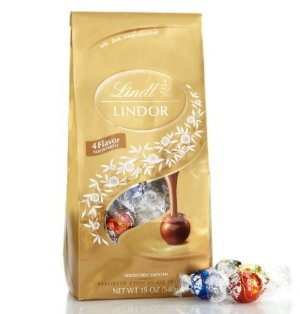 $8.78 Lightning deal-Lindt Lindor Four Flavors Assorted Chocolate Truffles, 21.2oz.