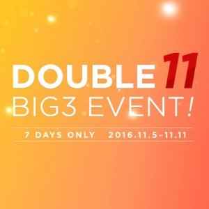 Up to 40% Sale & 1+1 DOUBLE 11 EVENT Select BIG 3 SINGLES DAY EVENT  @ KOLONmall