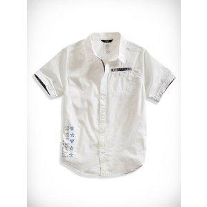 Graphic Button-Down Shirt (7-16)   guess kids